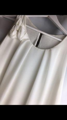 Biała sukienka na wesele/komunię rozmiar L
