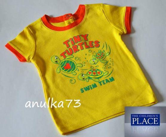 Nowa żółta bluzeczka z żółwikami T-shirt PLACE z USA 2-3 lata 92/98