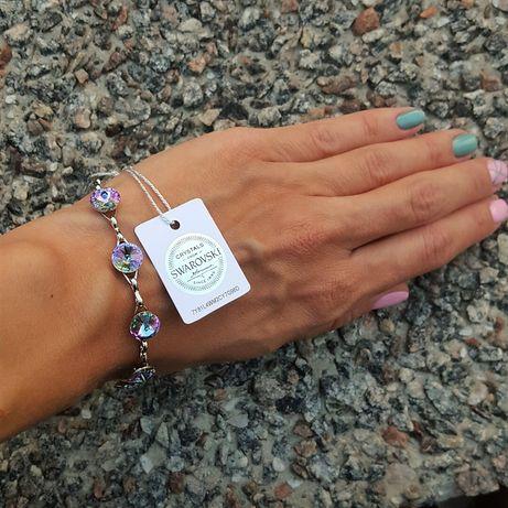 Лучший подарок любимой девушке жене маме браслет оригинал Swarovski