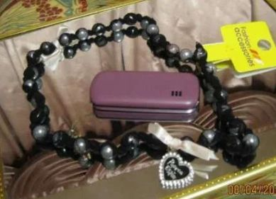 Бусы ожерелье черные сетка жемчуг длинные сердце необычные шикарные
