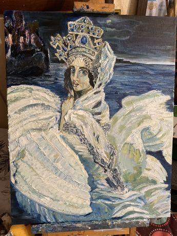 Царевна лебедь Врубель Картина маслянная живопись