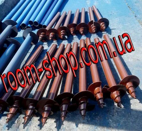 Гвинтові палі, винтовые сваи, геошуруп, установка, монтаж производство