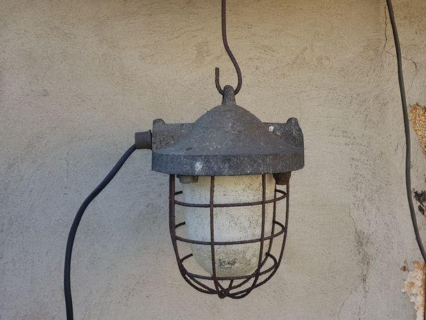 Lampa stara przemysłowa industrialna plus kabel ok.7m