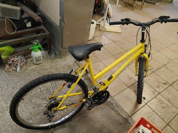 Rower dziewczęcy żółty