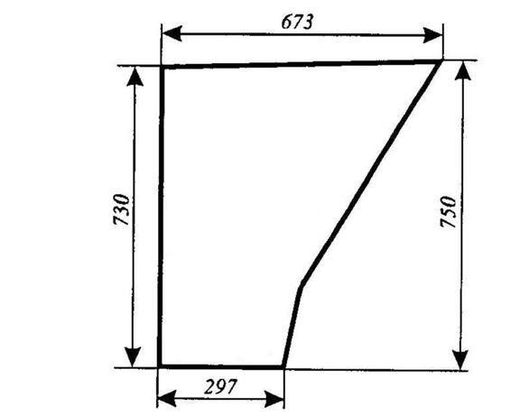 Szyba drzwi dolna Ursus 3514, 4512, 4514, 5312, 5314, 5714, ACX180
