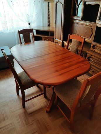 Stol rozkładany plus 10 krzeseł