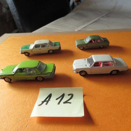 A~12,  2 mercedes 350 SL, BMW 2800, Ford escort Schuco