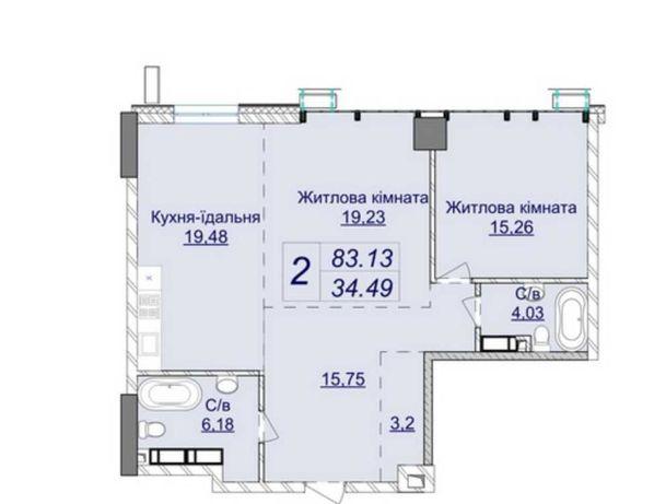 Предлагается 2-ком квартира 84 м2 в лучшем ЖК «Новопечерские Липки».
