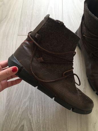 Кожаные сапоги ботинки Ecco Clarks
