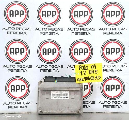 Centralina Polo 9N, Ibiza 6L, Skoda Fabia 1.2 12V referência 03E906 023D.