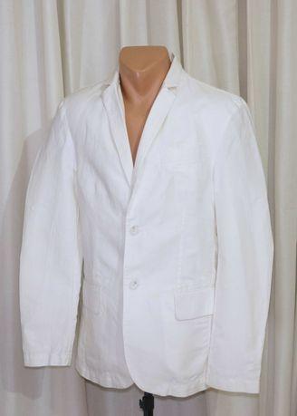Льяний білий піджак чоловічий весільний розм Евро 46