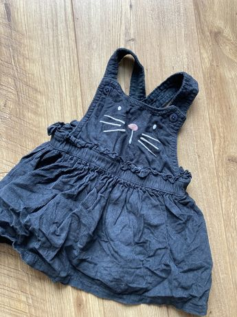 Sukienka 62-68 sztruksowa kotem