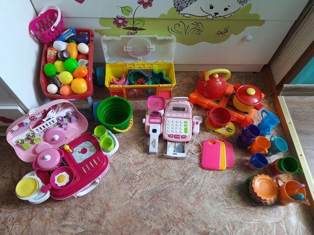 Игрушки (посудка, магазин, пасочки)