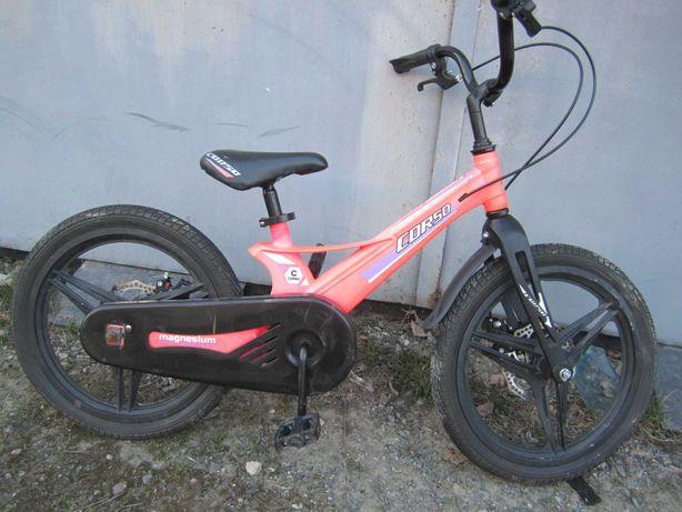 Очень лёгкий магниевый велосипед для девочки, 18 дюймов, 5-8 лет.