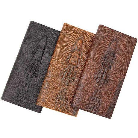 Мужской бумажник Аlligator из ЭКОкожи со стильным 3Dдизайном.