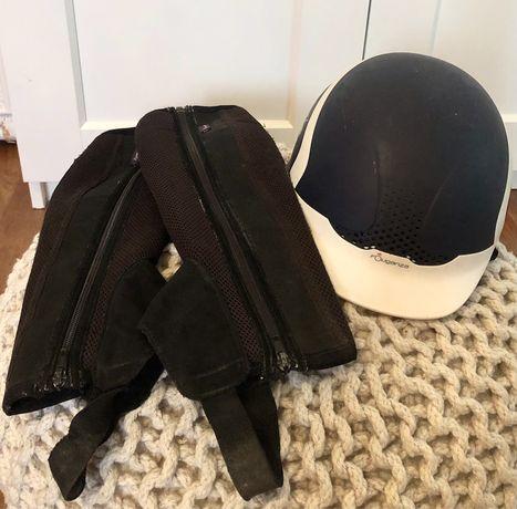 Komplet fouganza - kask i czapsy dla poczatkujacego jezdzca