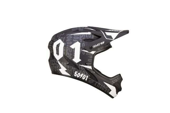 Kask rowerowy DH ENDURO 7iDP M1 BLACK White YOUTH YM