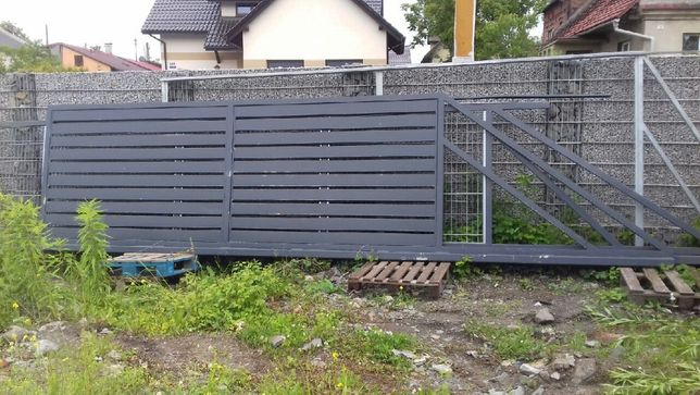 Brama przesówna H 165/L450cm/ocynk,RAL7016