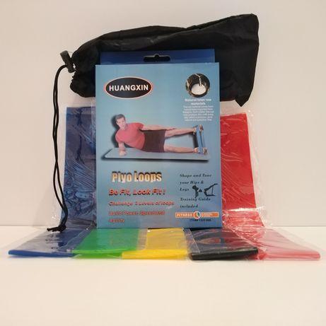Резинки для фитнеса 5 штук в мешочке эспандер тренажер жгут латекс