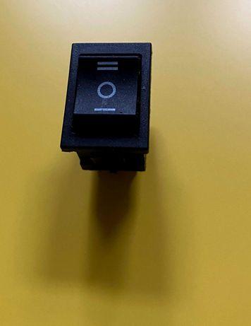 Przełącznik kołyskowy KCD1 3 pozycyjny I - OFF - II czarny