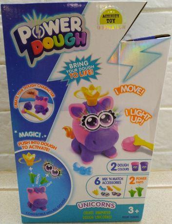 Свето-двуковой набор пластилин Canal Toys Power Dough Unicorns.