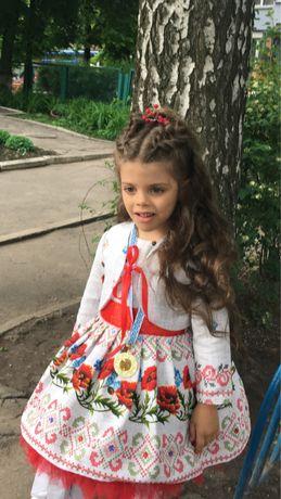 Платье в украинском стиле/вышиванка