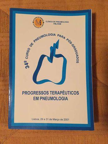 Livro técnico Progressos Terapêuticos em Pneumologia (como novo)