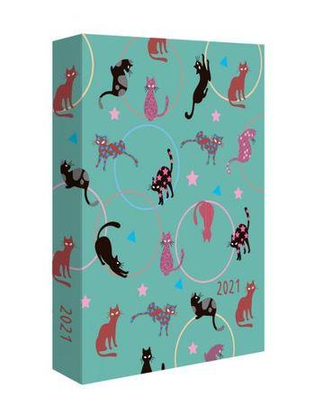 Kalendarz książkowy dzienny 2021 Koty twarda oprawa