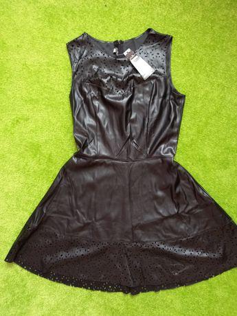 Платье нарядное экокожа