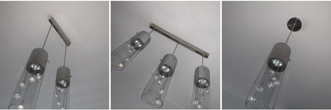 Lampy, żyrandole trzy, dwie lub jedna lampa wisząca