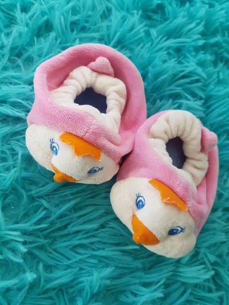 Buty buciki niechodki różowe paputki