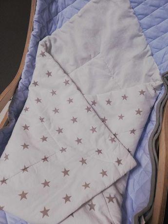 Biały rożek w gwiazdki