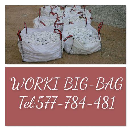 Worki Big Bag używane 95/95/190cm Czysty Srodek Sprzedaż Całoroczna