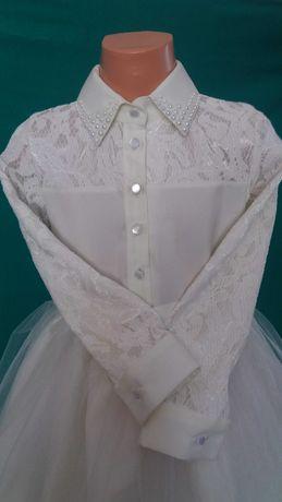Продам нарядное платье для девочки рост 118-128