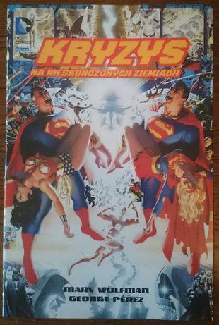 Kryzys na Nieskończonych Ziemiach DC Deluxe jak nowy