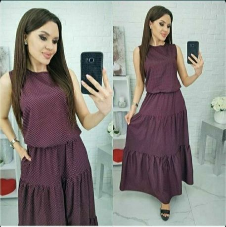 Платье (сарафан) длинное летнее