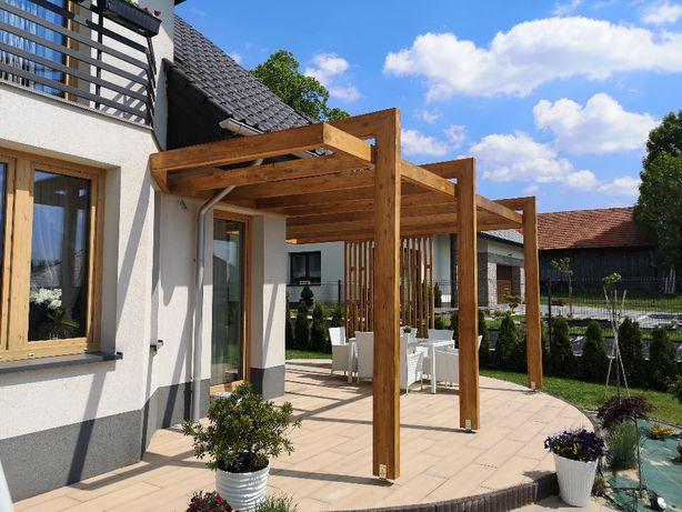 Tarasy drewniane, pergole, architektura ogrodowa