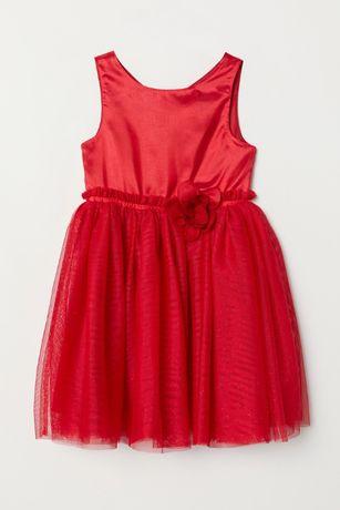 Платье нарядное H&M Швеция, размер 110 см, 3-4 года.