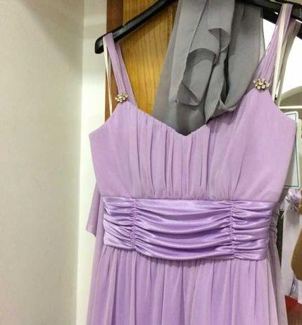 Vestidos cerimónia cor lilás violeta ou roxo tamanho S  M  L Novo