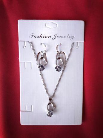 Nowy komplet biżuterii srebrnej