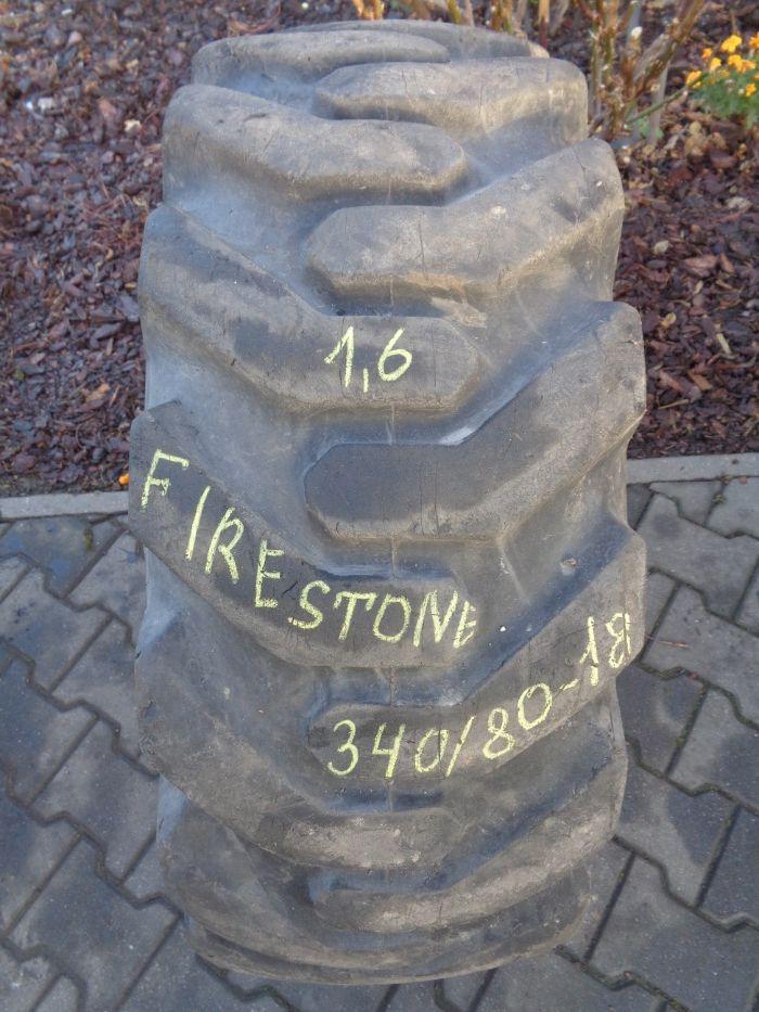 Opona przemysłowa 340/80-18 Firestone Marcher Bobcat Gehlmax Merlo * Rychtal - image 1