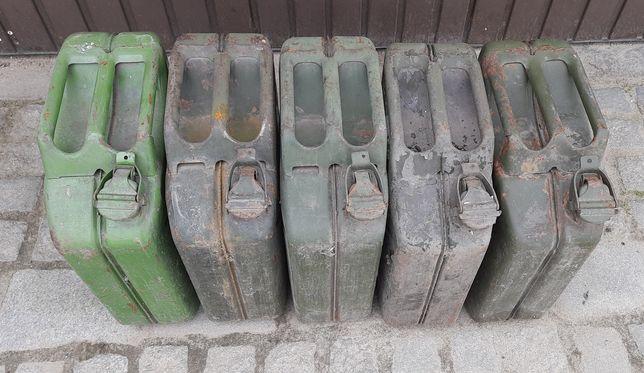 Kanister kanistry metalowe 20L. 5 szt cena za komplet