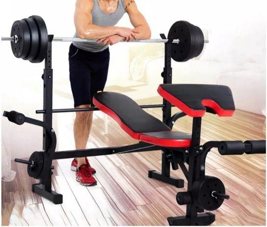 (ENTREGA GRÁTIS) Banco de musculação multifunções supino pernas novo