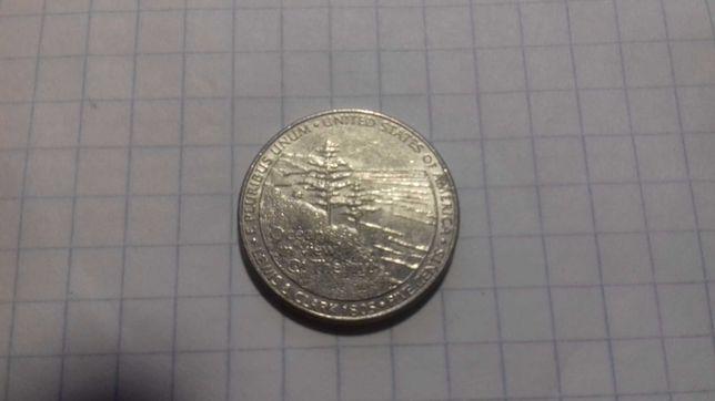Монеты США, 5 центов  Выход к океану