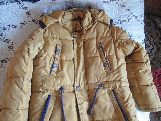 Зимняя куртка на мальчика р 140-152 см 12-13 лет