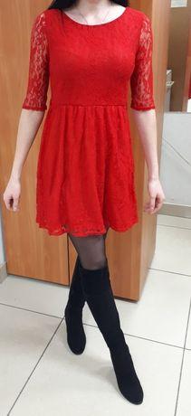 Красное гипюровое платье/шикарное красное платье/платье/гипюровое плат