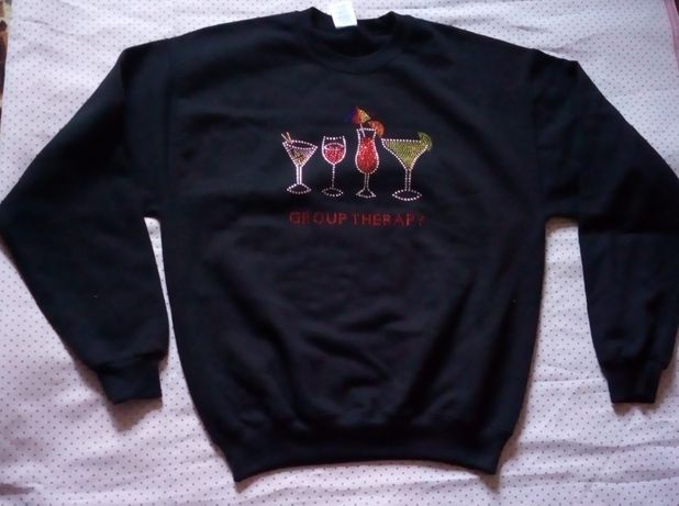 Bluza dresowa z ozdobami JERZEES rozmiar M