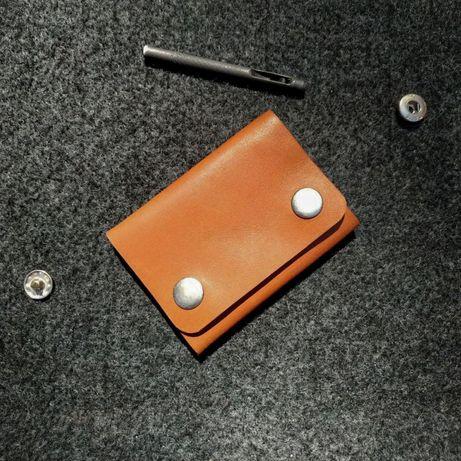Мини-кошелек из натуральной кожи ручной работы