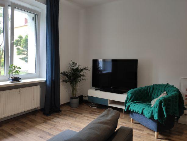 Umeblowane, wyposażone mieszkanie z ogródkiem