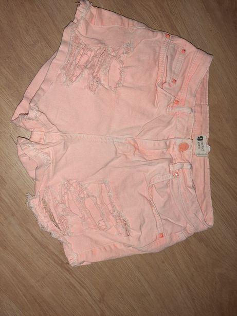 Perfect jeans morelowe spodenki z dziurami idealne na lato dżinsowe